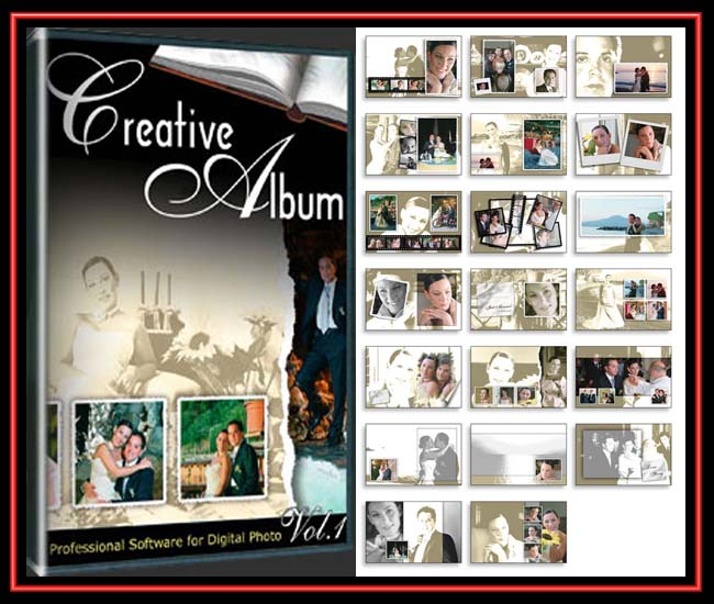 Wedding Album Design Software Digital Photography Free Download: Creative Album PSD (2DVD)